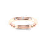 Spaced Diamond Ring in 18ct Rose Gold (2.5mm)
