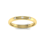 Spaced Diamond Ring in 18ct Yellow Gold (2.5mm)