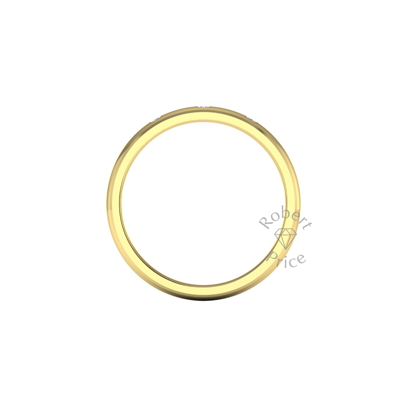 Spaced Diamond Ring in 9ct Yellow Gold (2.5mm)