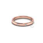 Spaced Diamond Ring in 9ct Rose Gold (2.5mm)