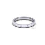 Spaced Flat Court Diamond Ring in Platinum (2.5mm)