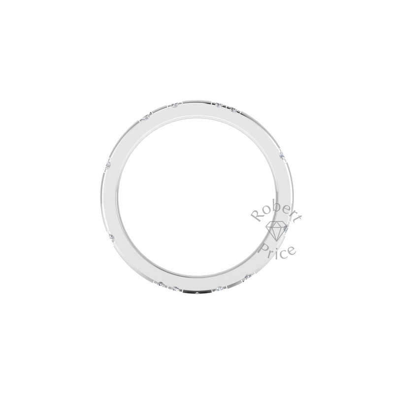 Eve Diamond Ring in Platinum (2mm)