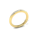 Channel Set Diamond Ring in 18ct Yellow Gold (0.18 ct.)