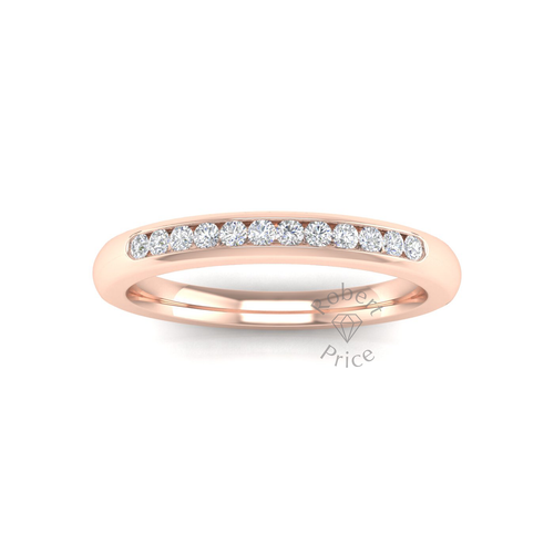 Channel Set Diamond Ring in 18ct Rose Gold (0.18 ct.)