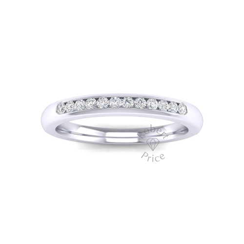Channel Set Diamond Ring in 18ct White Gold (0.18 ct.)