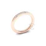 Channel Set Soft Court Diamond Ring in 18ct Rose Gold (0.18 ct.)
