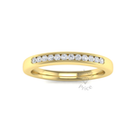 Channel Set Soft Court Diamond Ring in 18ct Yellow Gold (0.18 ct.)