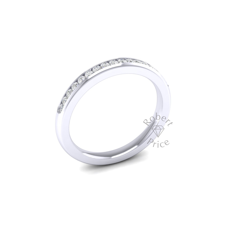 Channel Set Diamond Ring in Platinum (0.26 ct.)