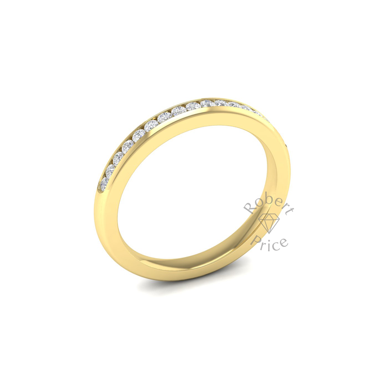 Channel Set Diamond Ring in 18ct Yellow Gold (0.26 ct.)