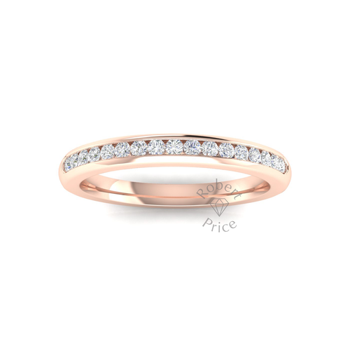 Channel Set Diamond Ring in 18ct Rose Gold (0.26 ct.)
