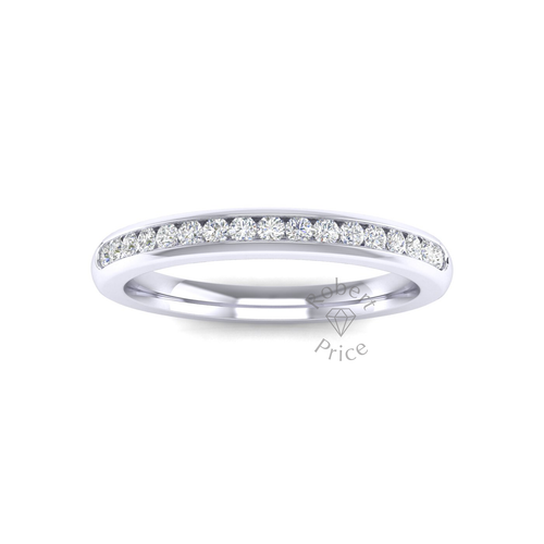 Channel Set Diamond Ring in 18ct White Gold (0.26 ct.)