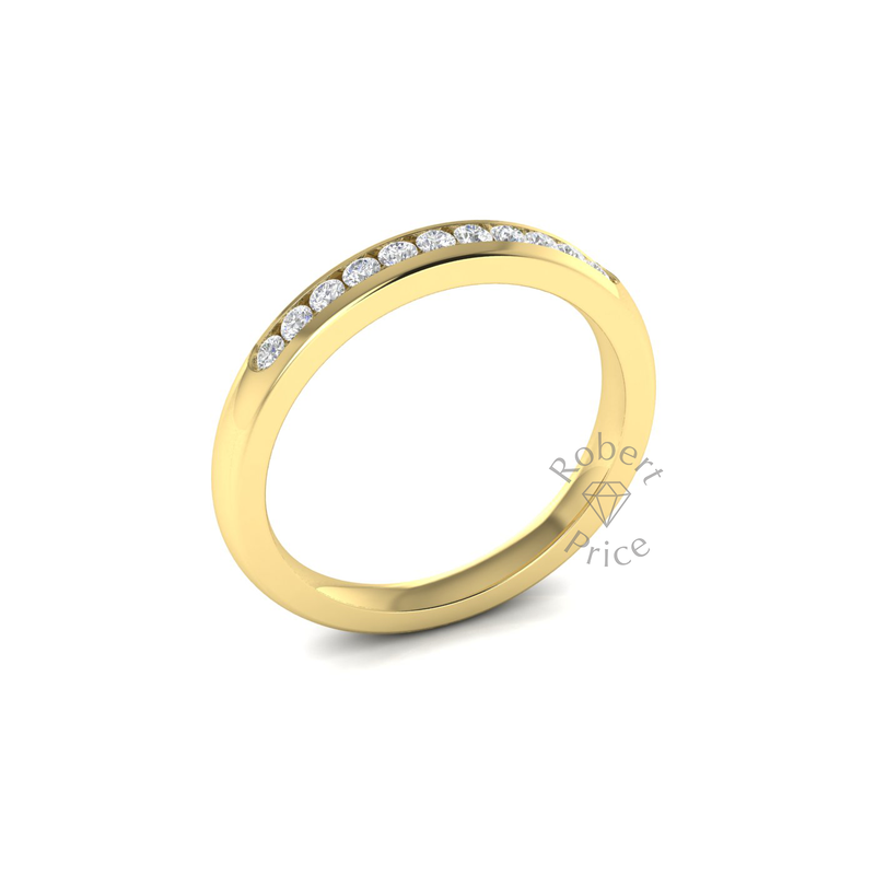 Channel Set Diamond Ring in 18ct Yellow Gold (0.22 ct.)