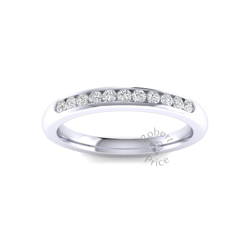 Channel Set Diamond Ring in Platinum (0.22 ct.)