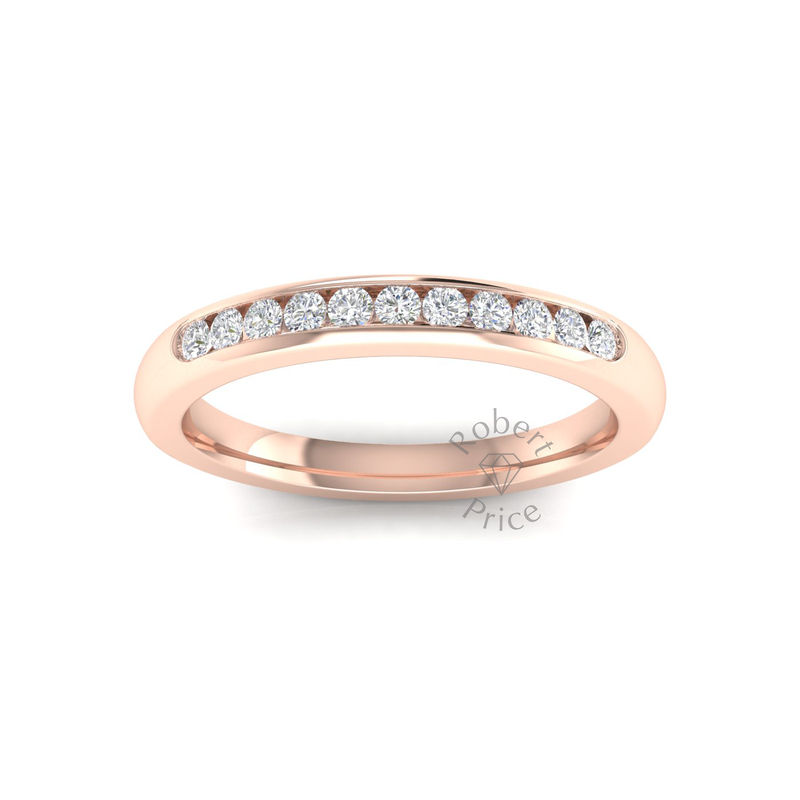 Channel Set Diamond Ring in 18ct Rose Gold (0.22 ct.)