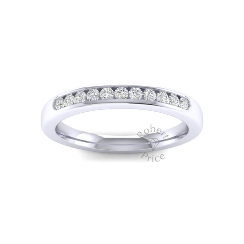 Channel Set Diamond Ring in 18ct White Gold (0.22 ct.)
