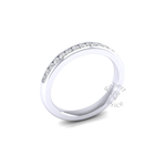 Channel Set Soft Court Diamond Ring in Platinum (0.3 ct.)