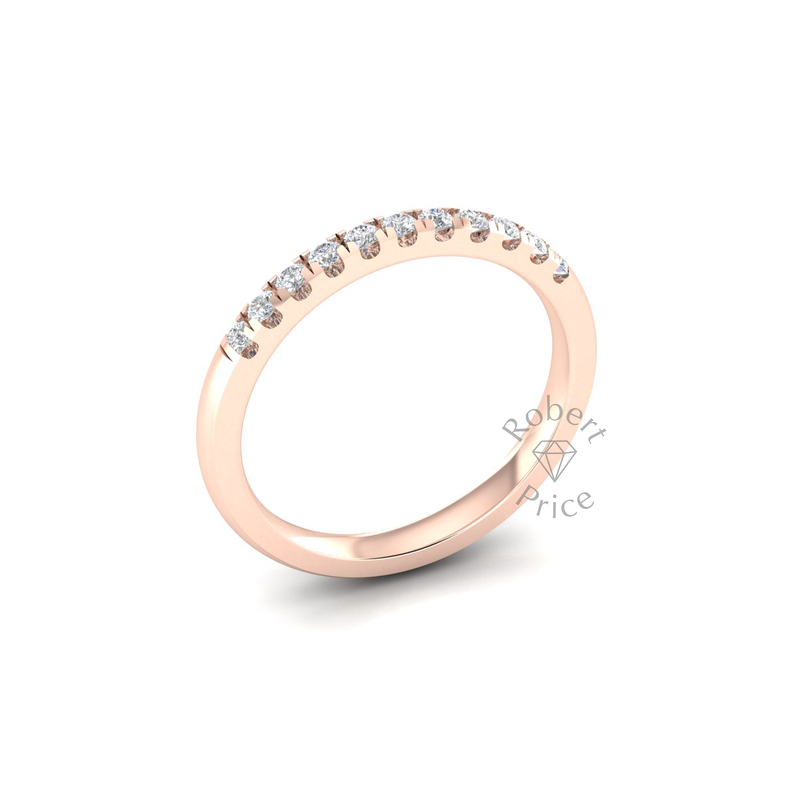 Micropavé Diamond Ring in 18ct Rose Gold (0.22 ct.)