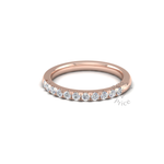 Micropavé Diamond Ring in 18ct Rose Gold (0.33 ct.)