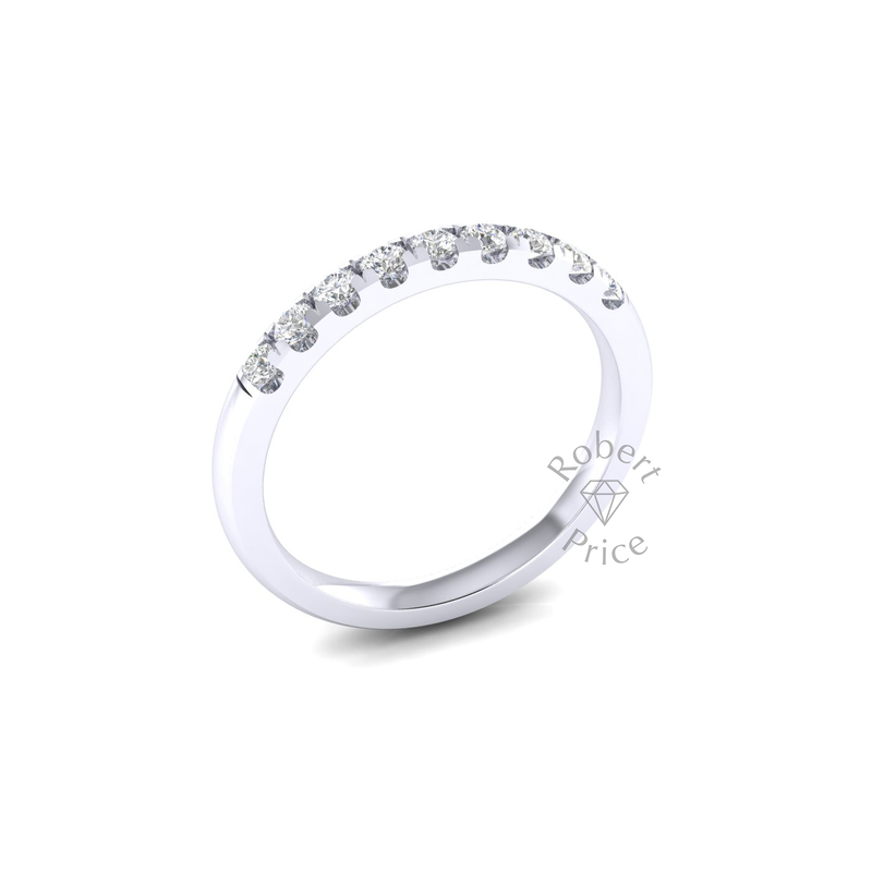 Micropavé Diamond Ring in 18ct White Gold (0.36 ct.)