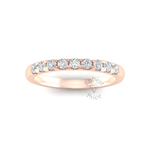 Micropavé Diamond Ring in 18ct Rose Gold (0.36 ct.)