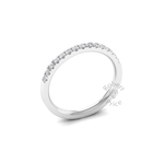 Micropavé Diamond Ring in 18ct White Gold (0.23 ct.)