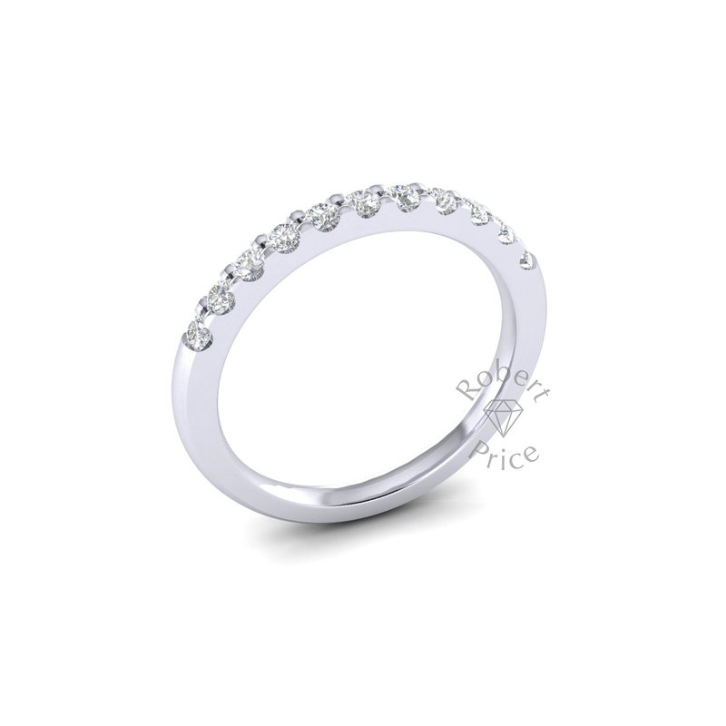 Claw Set Diamond Ring in Platinum (0.44 ct.)
