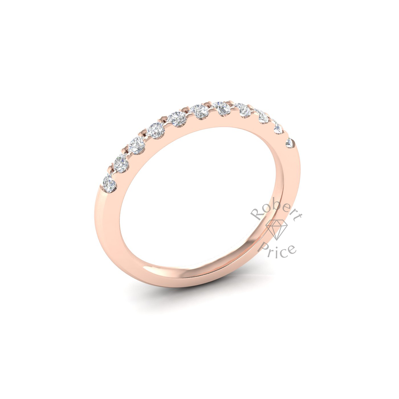 Claw Set Diamond Ring in 18ct Rose Gold (0.44 ct.)