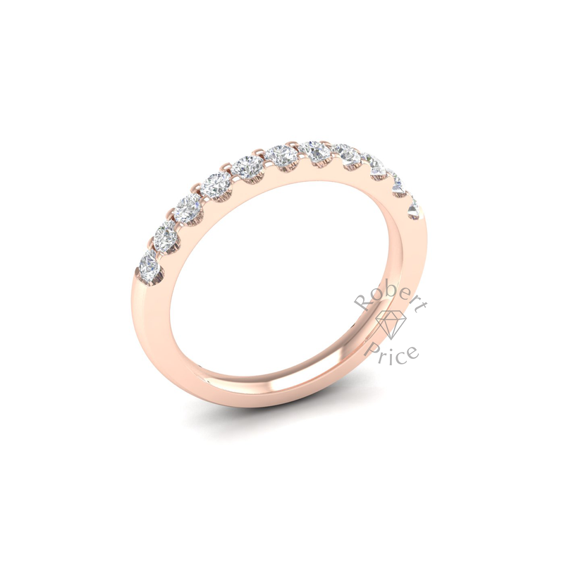 Claw Set Diamond Ring in 18ct Rose Gold (0.55 ct.)