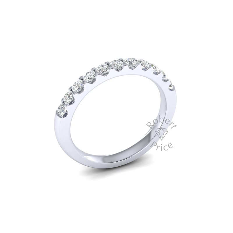 Claw Set Diamond Ring in 18ct White Gold (0.55 ct.)
