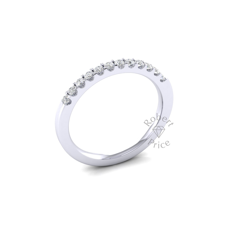Claw Set Diamond Ring in 18ct White Gold (0.24 ct.)