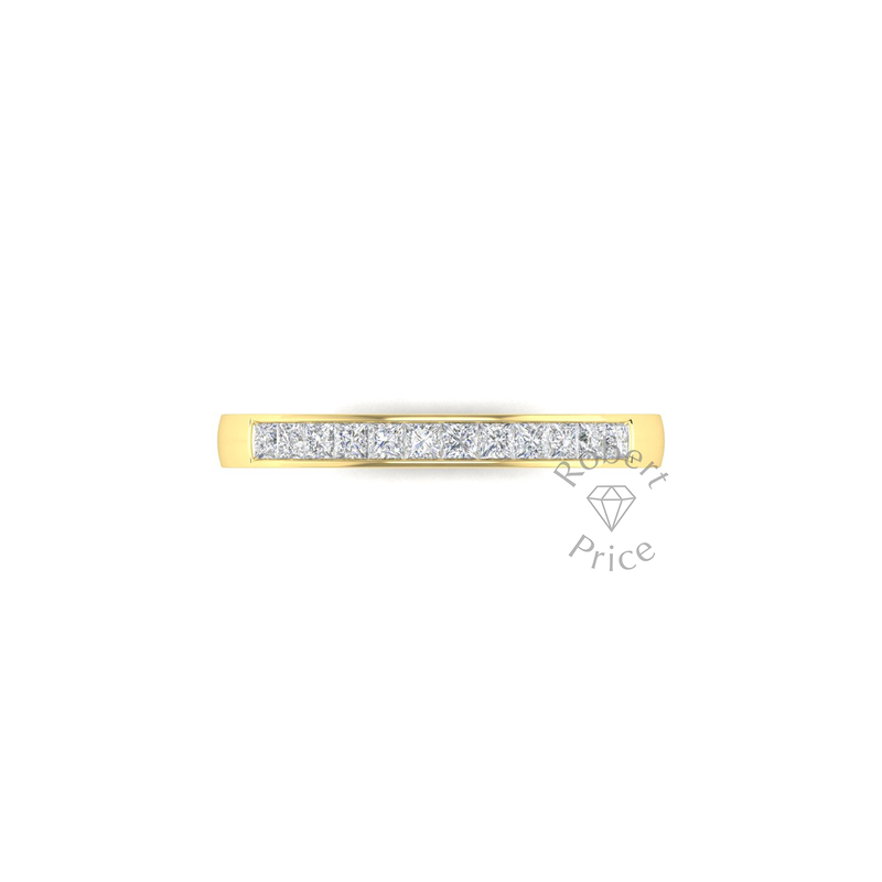 Princess Cut Channel Set Diamond Ring in 18ct Yellow Gold (0.42 ct.)