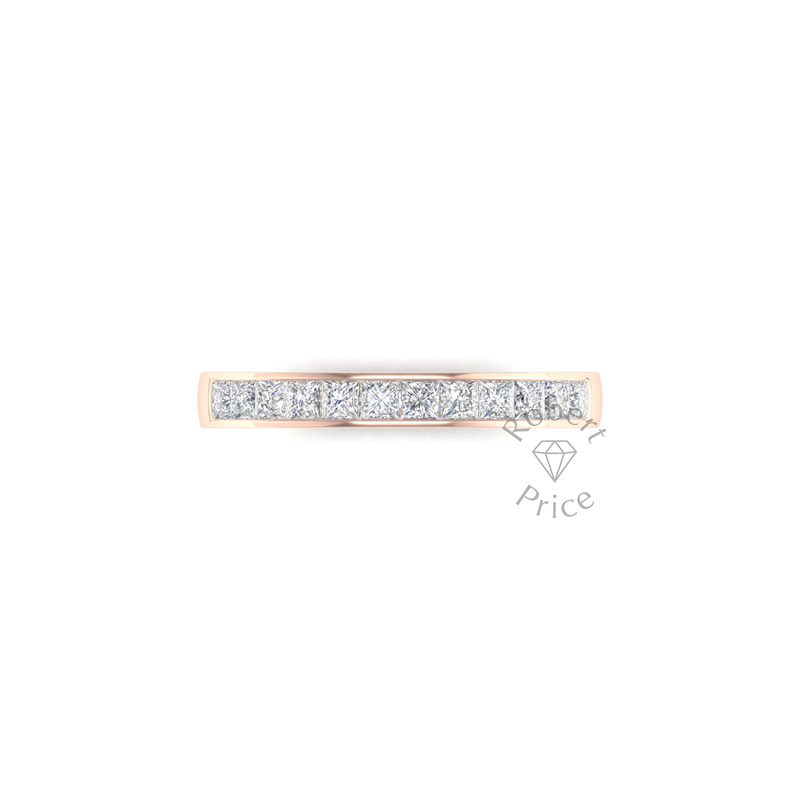 Princess Cut Channel Set Diamond Ring in 18ct Rose Gold (0.72 ct.)
