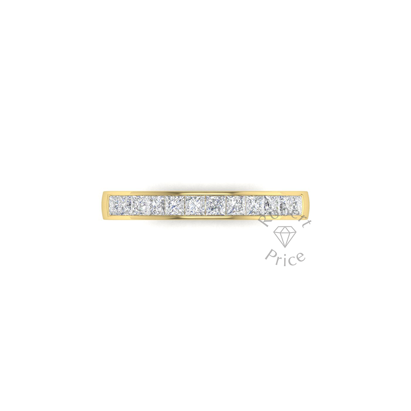 Princess Cut Channel Set Diamond Ring in 18ct Yellow Gold (0.72 ct.)