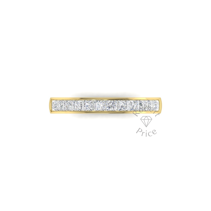 Princess Cut Channel Set Diamond Ring in 18ct Yellow Gold (0.96 ct.)