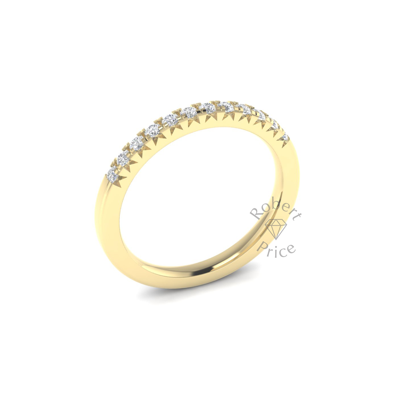 French Micropavé Diamond Ring in 18ct Yellow Gold (0.24 ct.)