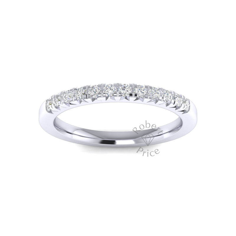 French Micropavé Court Diamond Ring (0.24 ct.)