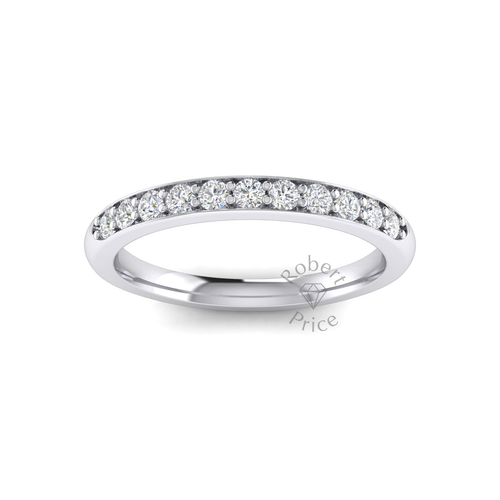Shared Claw Set Diamond Ring in Platinum (0.33 ct.)