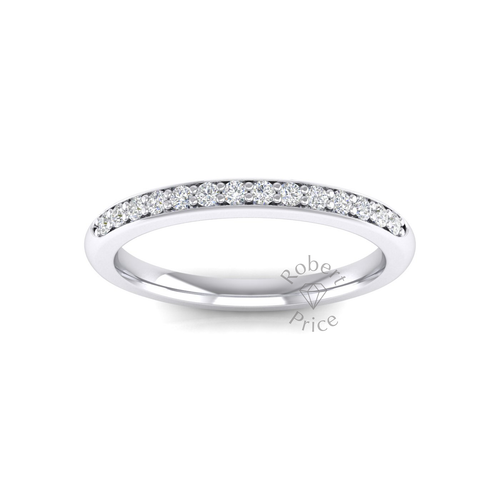 Shared Claw Set Diamond Ring in Platinum (0.21 ct.)