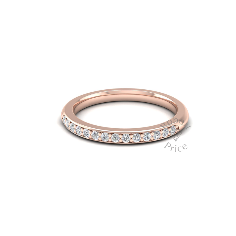 Shared Claw Set Diamond Ring in 18ct Rose Gold (0.21 ct.)