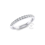Shared Claw Set Court Diamond Ring (0.24 ct.)