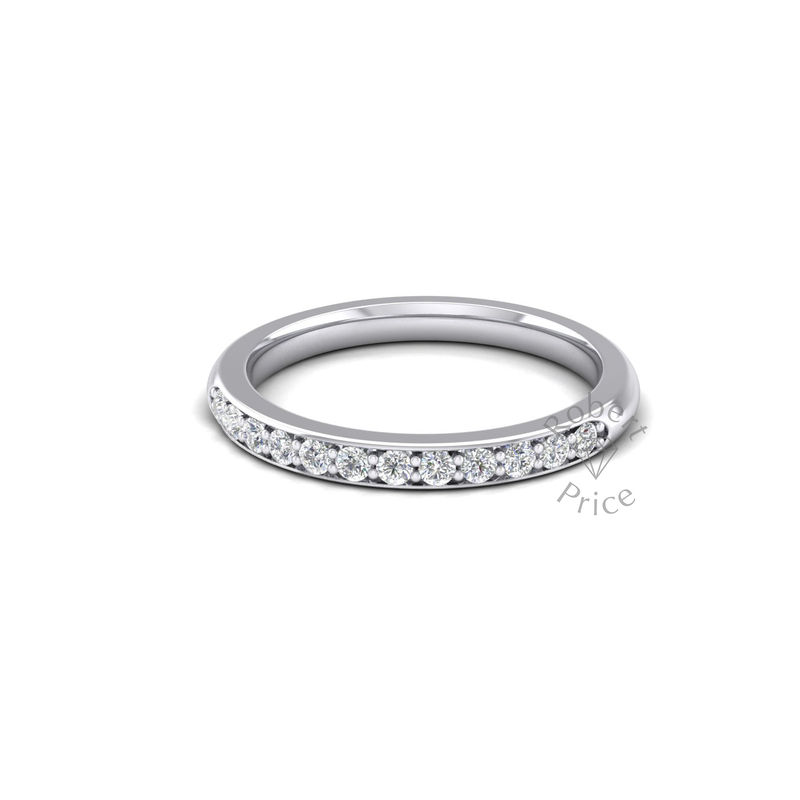 Shared Claw Set Diamond Ring in Platinum (0.24 ct.)
