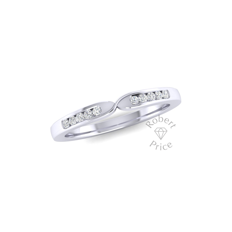 Twist Diamond Ring in 18ct White Gold (0.15 ct.)