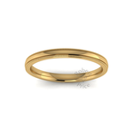 Millgrain Wedding Ring in 18ct Yellow Gold (2mm)