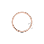 Millgrain Wedding Ring in 18ct Rose Gold (2mm)