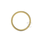 Millgrain Wedding Ring in 9ct Yellow Gold (2mm)