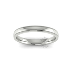 Millgrain Wedding Ring in 18ct White Gold (2.5mm)