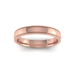 Millgrain Wedding Ring in 9ct Rose Gold (3.5mm)