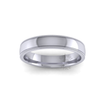 Millgrain Wedding Ring in Platinum (4mm)