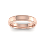 Millgrain Wedding Ring in 18ct Rose Gold (4mm)