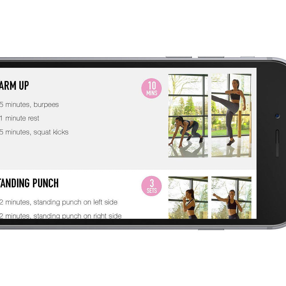 workout guide on smartphone